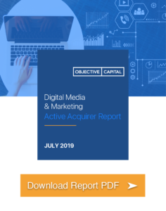 Digital marketing and media report cover